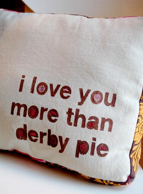 Derby Pie Pillow