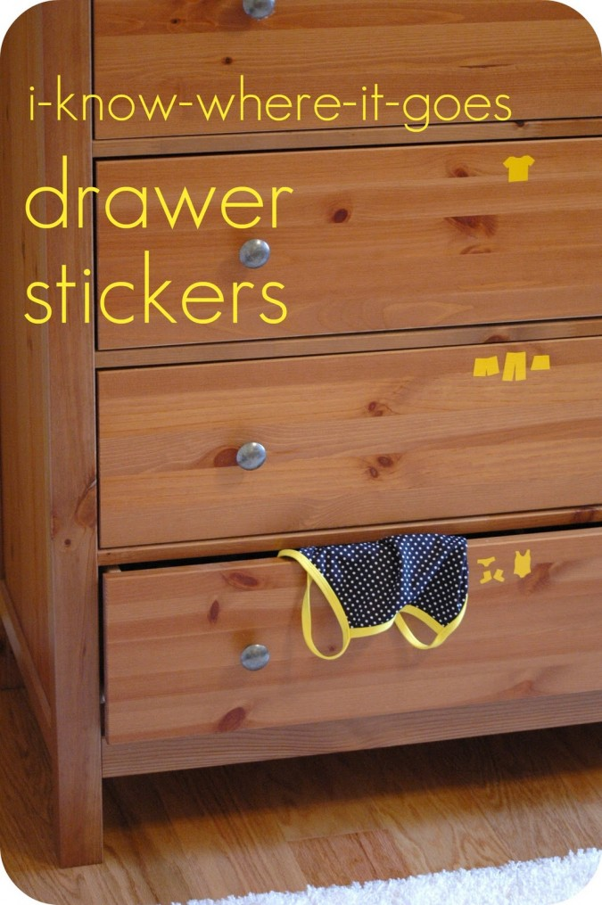 I-know-where-it-goes Drawer Stickers: a Tutorial