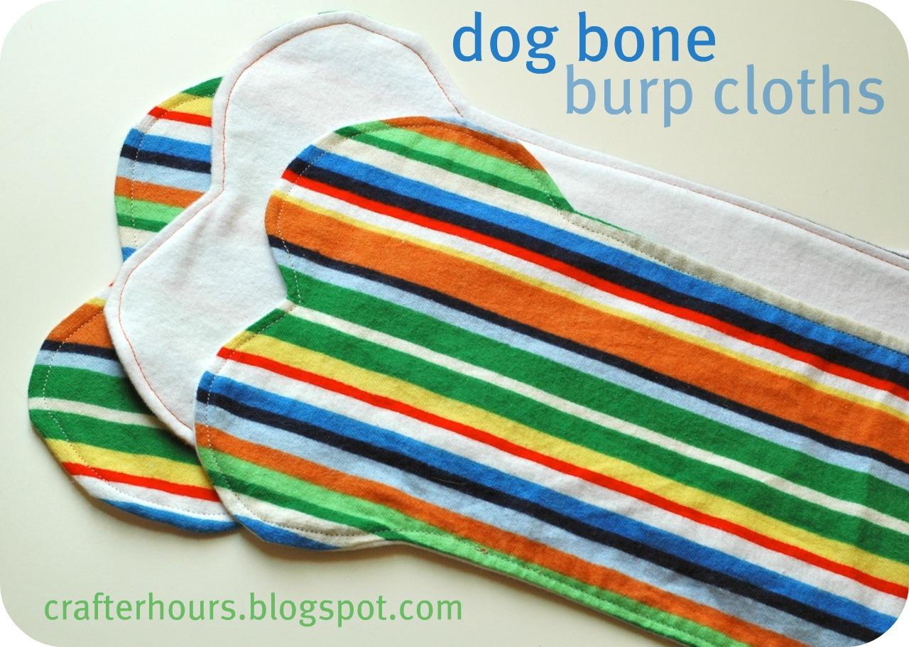 Dog bone burp cloths a tutorial crafterhours dog bone burp cloths a tutorial baditri Image collections