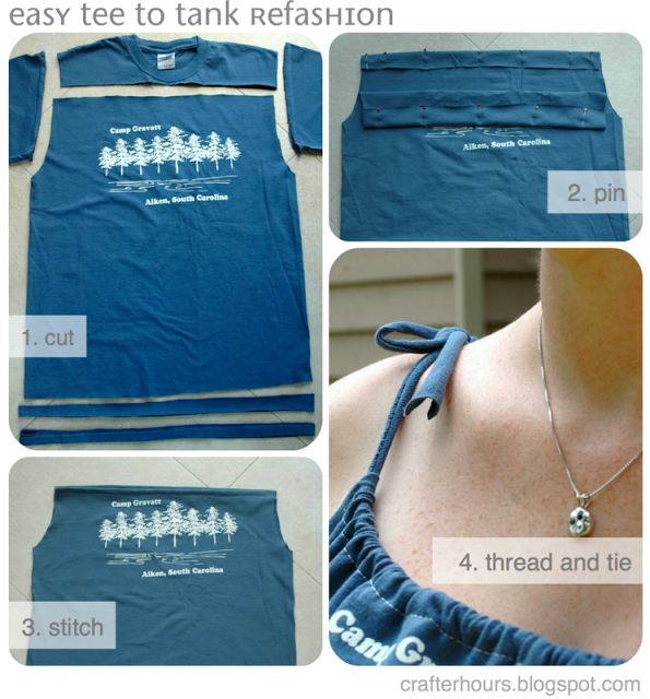 Turn a tee into a tank top - FAST!