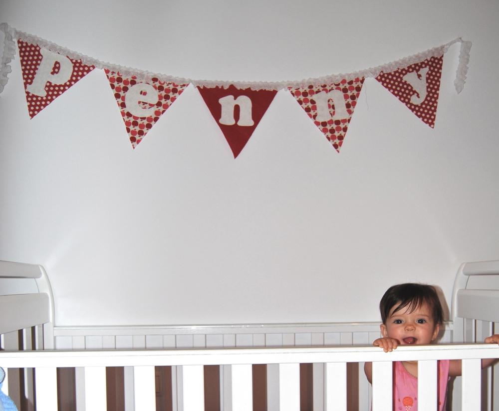 For Baby 3 I Cut Out Each Letter On Pink Knit Fabric Fused To Double Stick Fusible Then Ironed Them Directly Onto The Wall Here S My Font Boyfriend