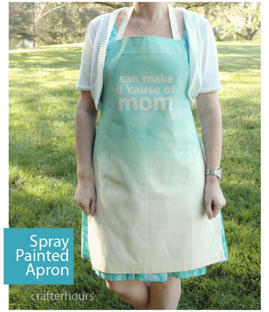 apron mother's day DIY spray painted mom