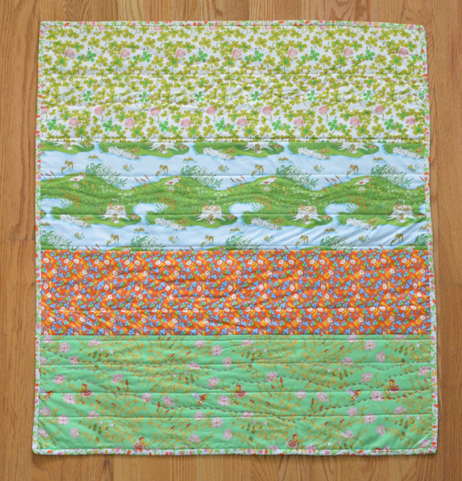 crafterhours briar rose heather ross baby quilt - 07