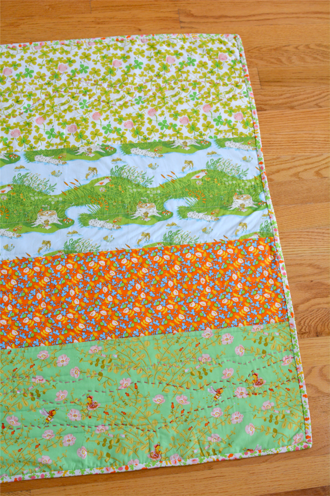 crafterhours briar rose heather ross baby quilt - 10