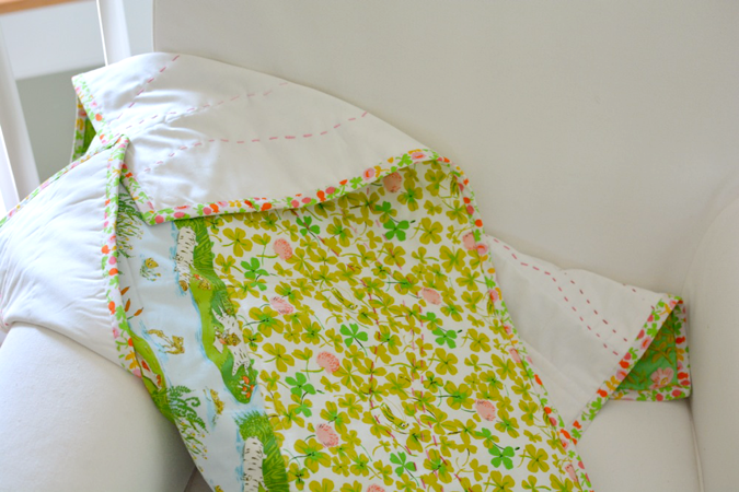 crafterhours briar rose heather ross baby quilt - 13