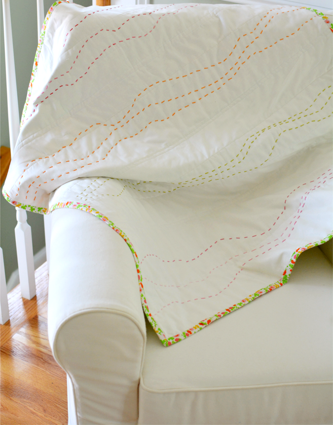 crafterhours briar rose heather ross baby quilt - 14