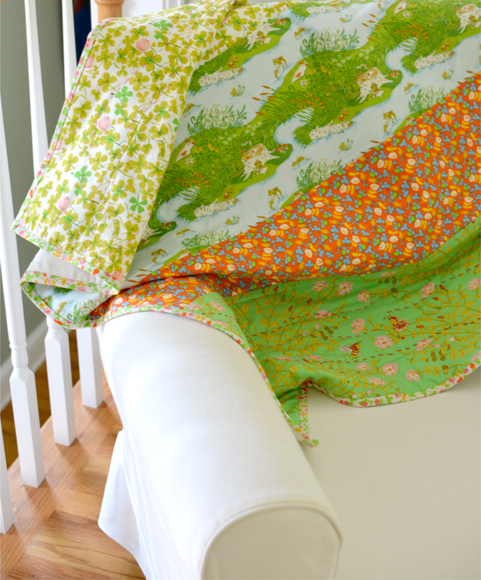 crafterhours briar rose heather ross baby quilt - 15