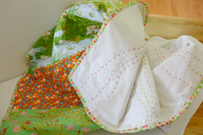 crafterhours briar rose heather ross baby quilt - 16