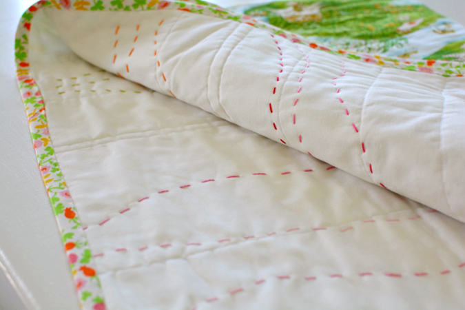 crafterhours briar rose heather ross baby quilt - 20