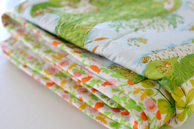 crafterhours briar rose heather ross baby quilt - 23