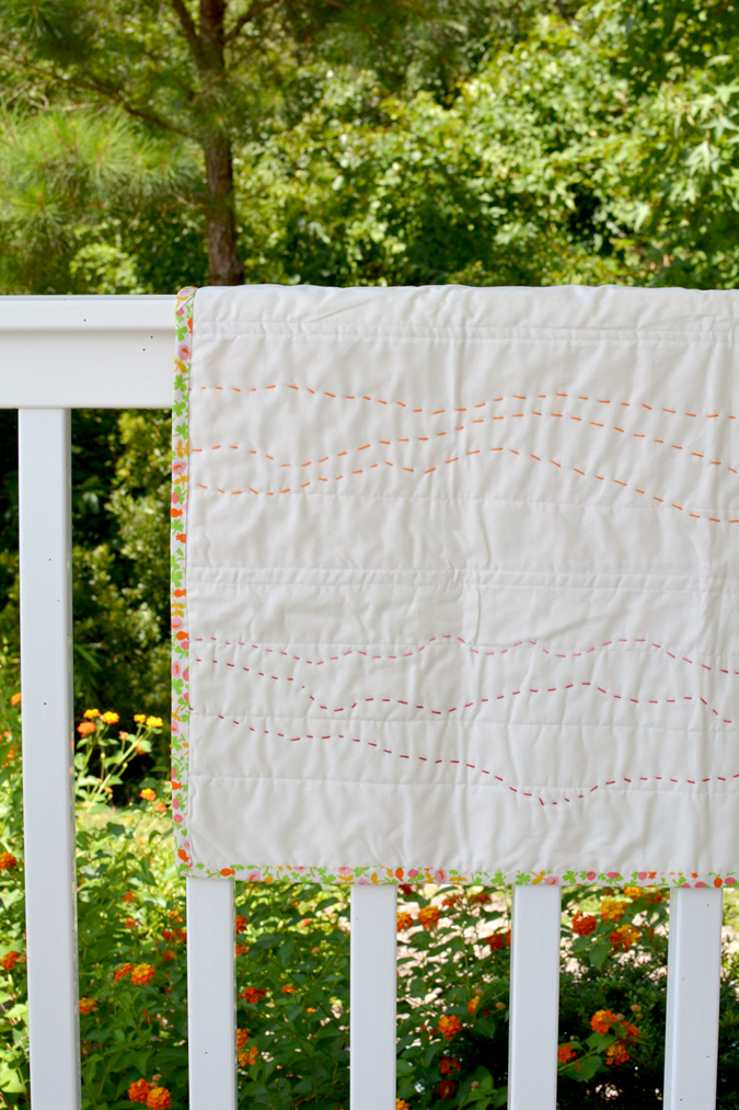 crafterhours briar rose heather ross baby quilt - 24