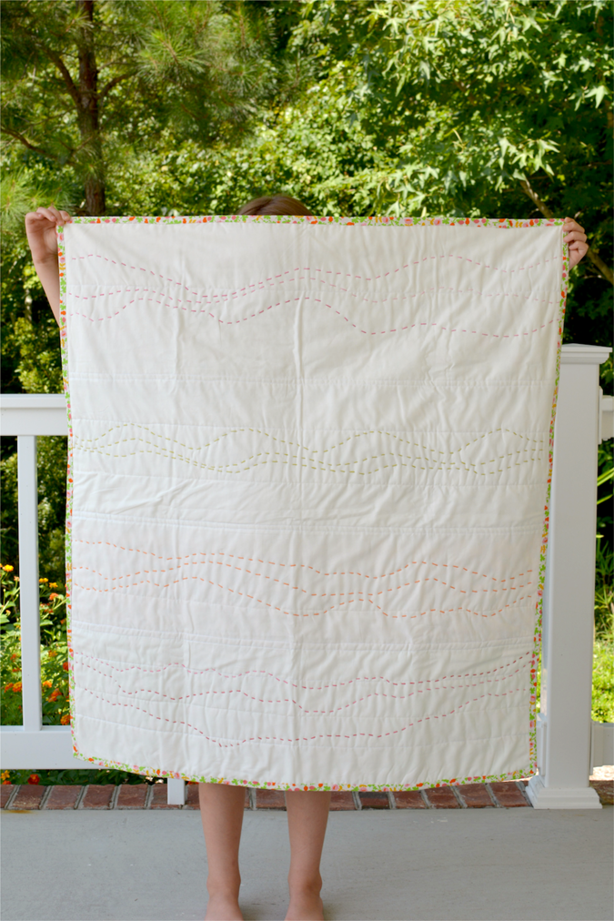 crafterhours briar rose heather ross baby quilt - 25