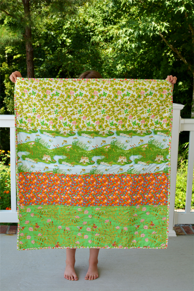 crafterhours briar rose heather ross baby quilt - 26