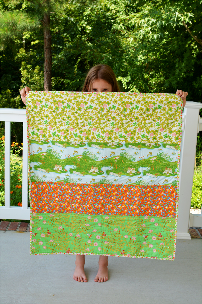 crafterhours briar rose heather ross baby quilt - 27