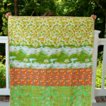 crafterhours briar rose heather ross baby quilt