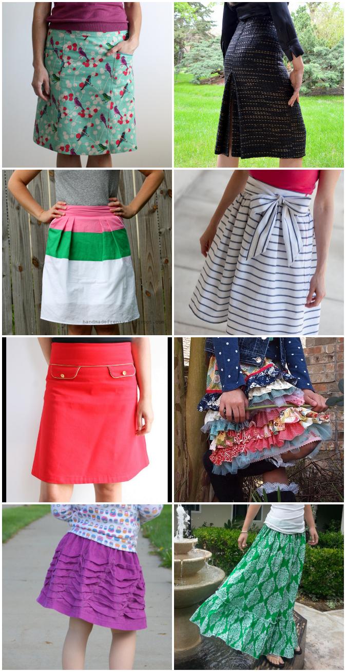 crafterhours skirt week winners collage