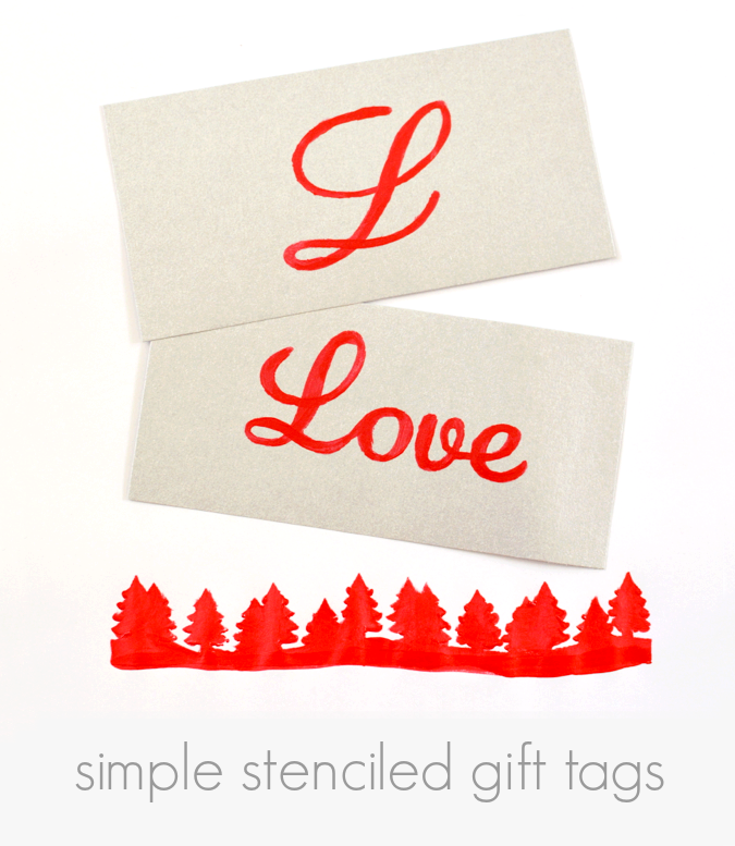 Simple Stenciled Gift Tags