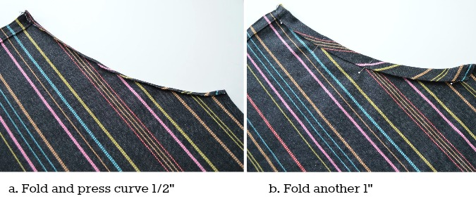 Adjustable apron pressing curve
