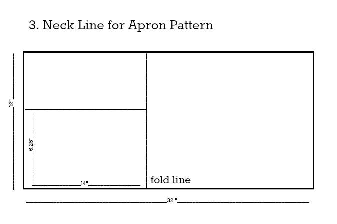 Apron Pattern Neck Line Step 3