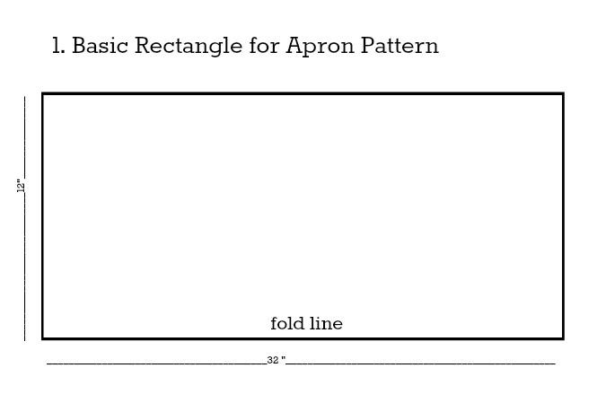 Apron Pattern Step 1