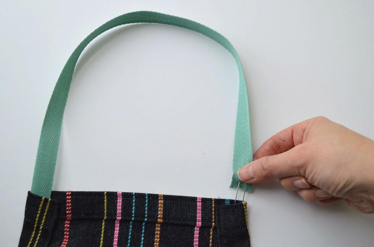 Apron Pattern adding twill tape