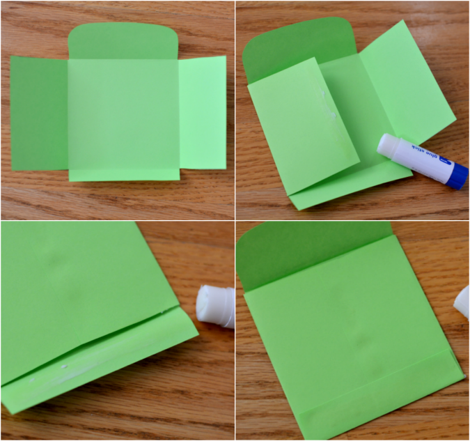 crafterhours Astrobrights envelope fold and glue
