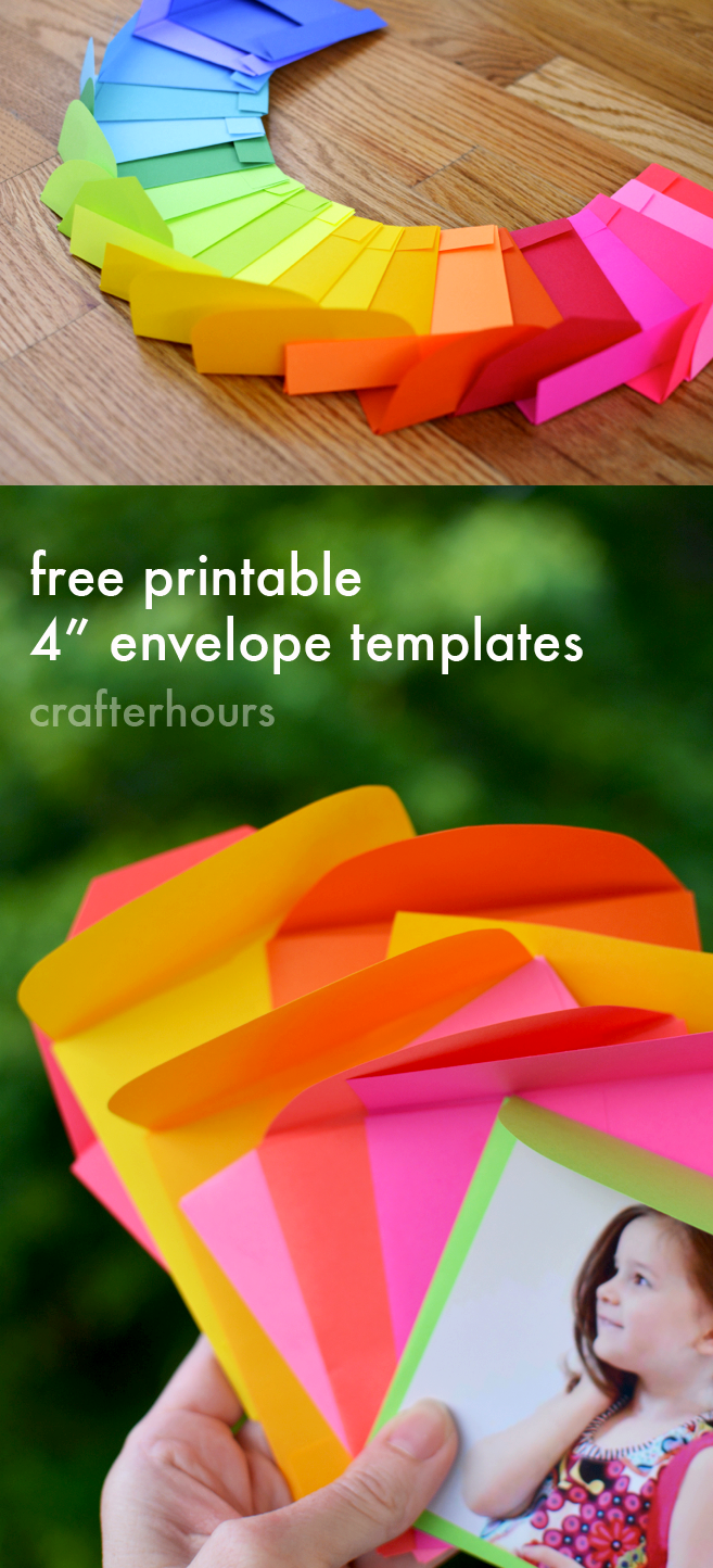 crafterhours astrobrights envelope templates for instagram prints