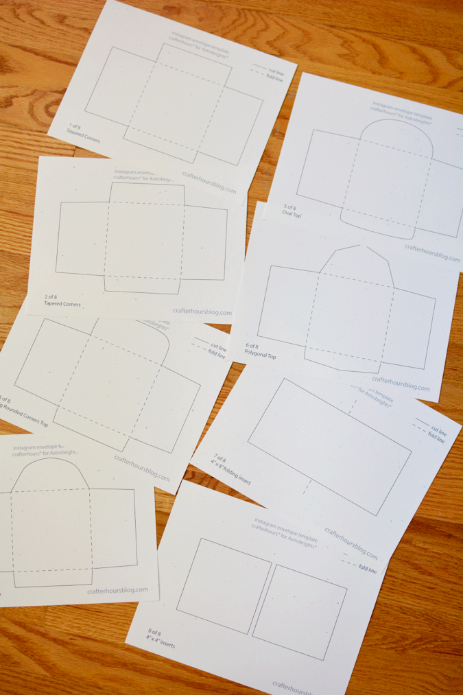 crafterhours astrobrights envelope templates