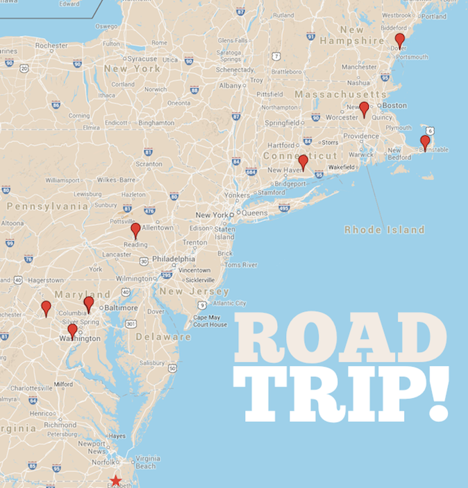 crafterhours road trip map