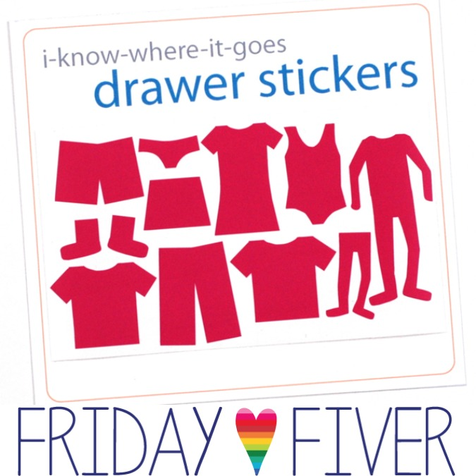 crafterhours drawer stickers friday fiver I-know-where-it-goes