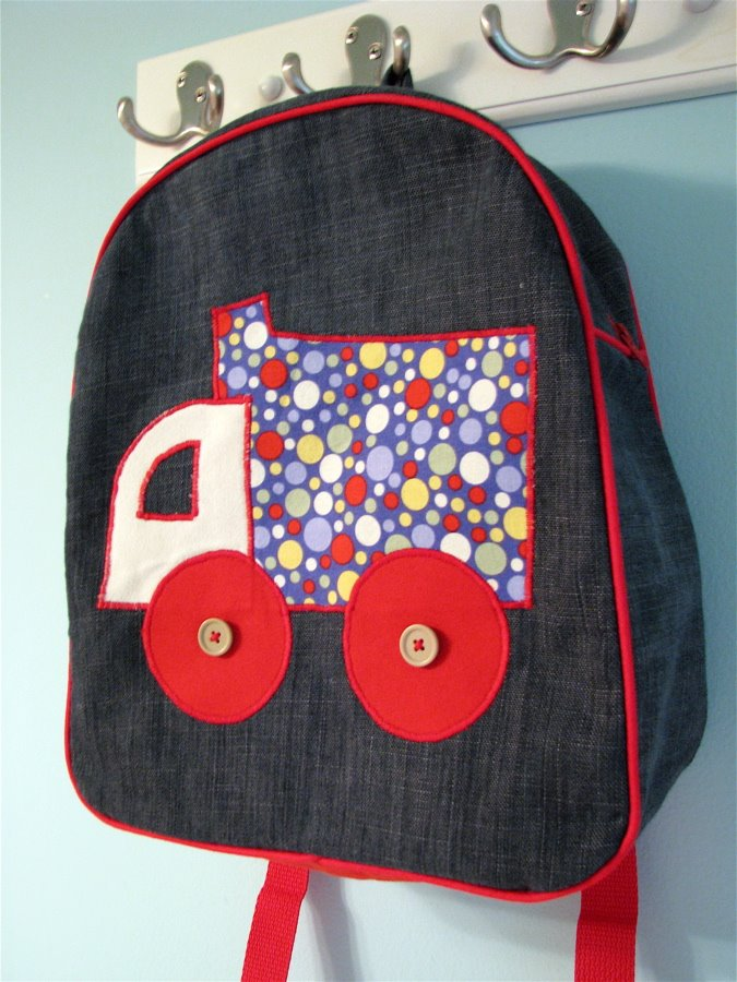made by are toddler backpack pattern for Friday Fiver