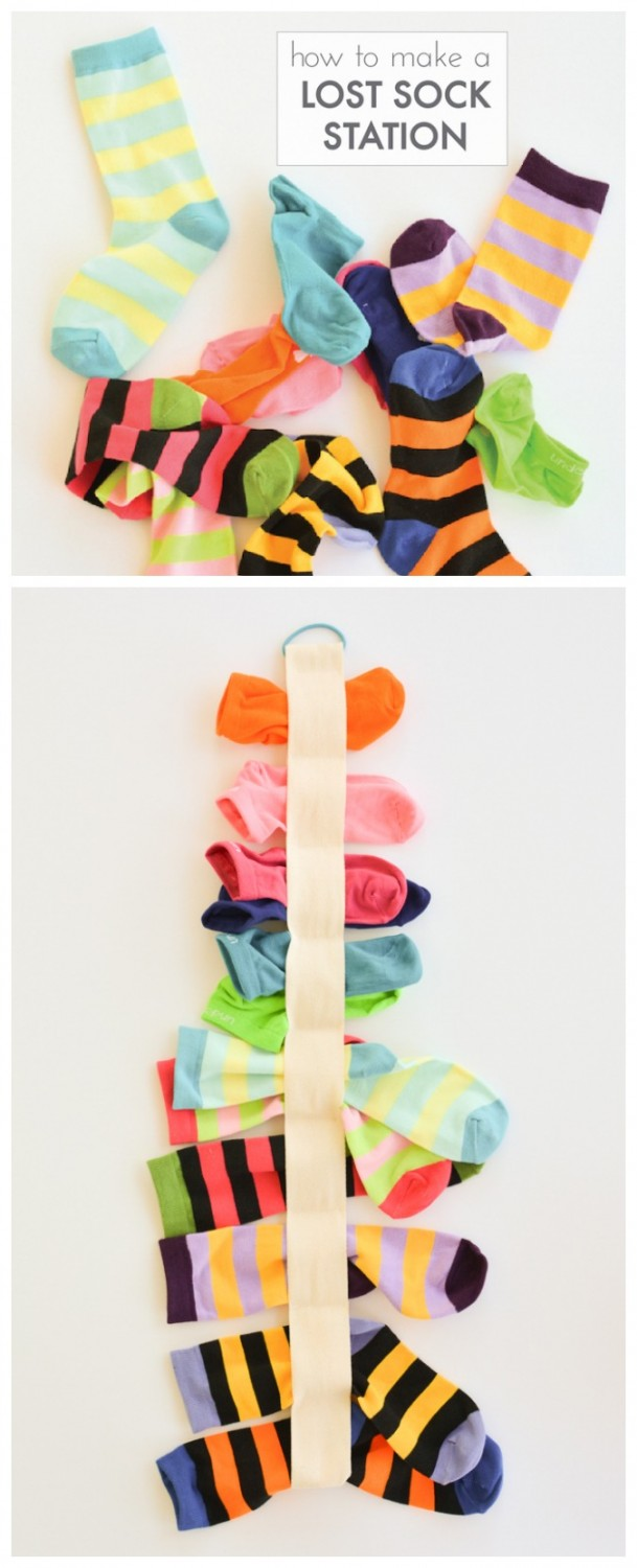 Learn how to make a lost sock station – in 10 minutes!