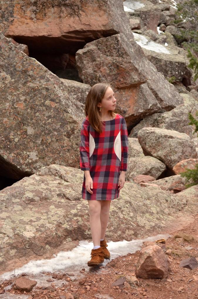Plaid Flannel Sunki Dresses