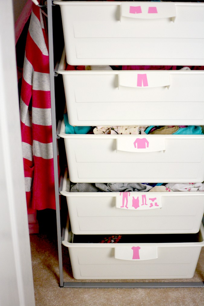 I-know-where-it-goes drawer stickers to help kids PUT STUFF AWAY!