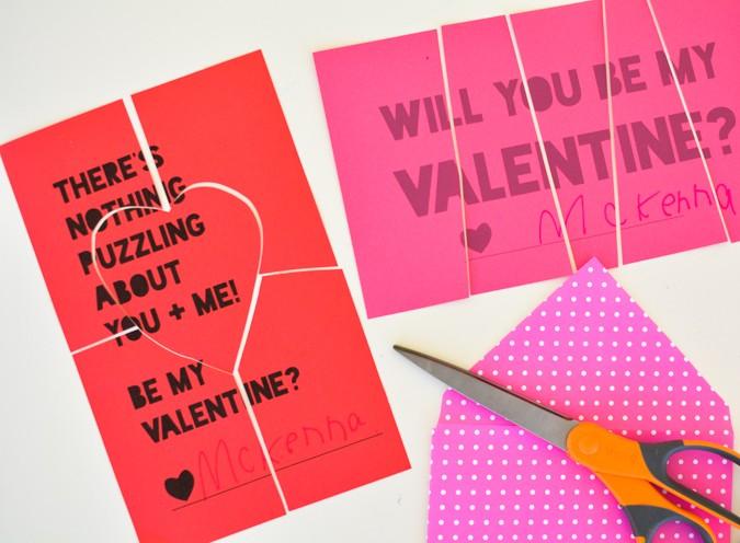 Free Printable Puzzle Valentines