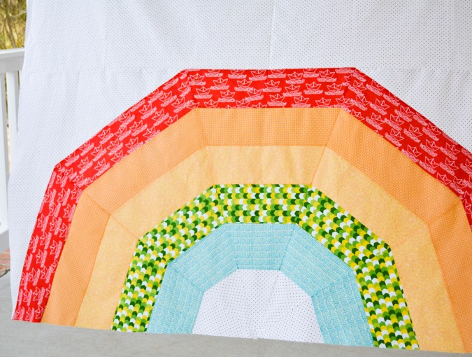 Giant Rainbow Quilt Pattern