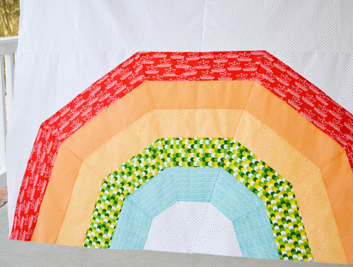 new pattern  giant rainbow quilt