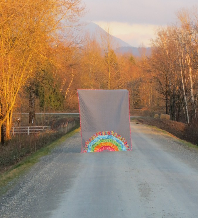 Giant Rainbow Quilt Pattern testers 1