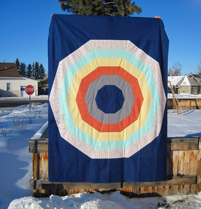 Giant Rainbow Quilt Pattern testers-11