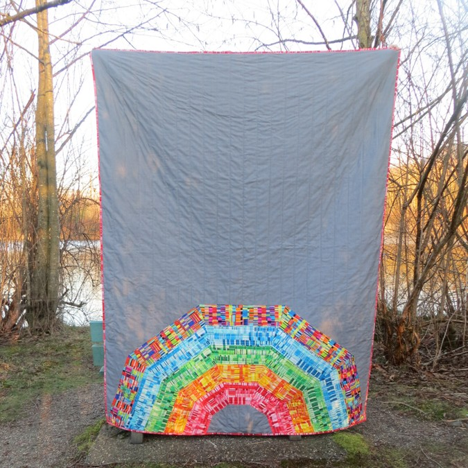 Giant Rainbow Quilt Pattern testers-2