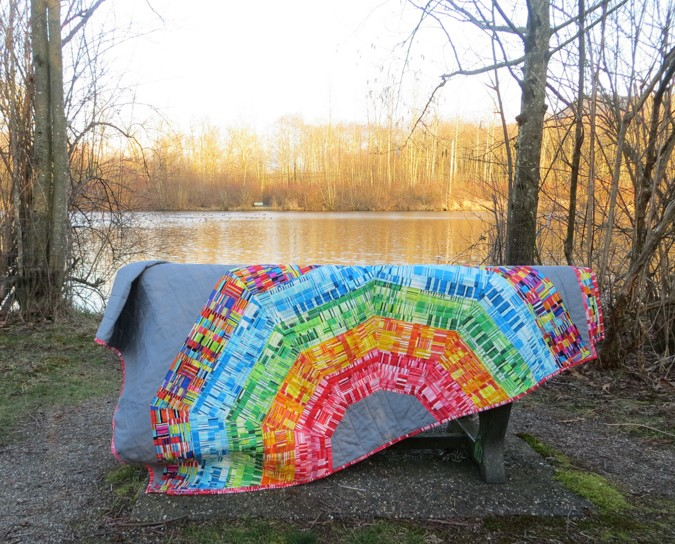 Giant Rainbow Quilt Pattern testers-3