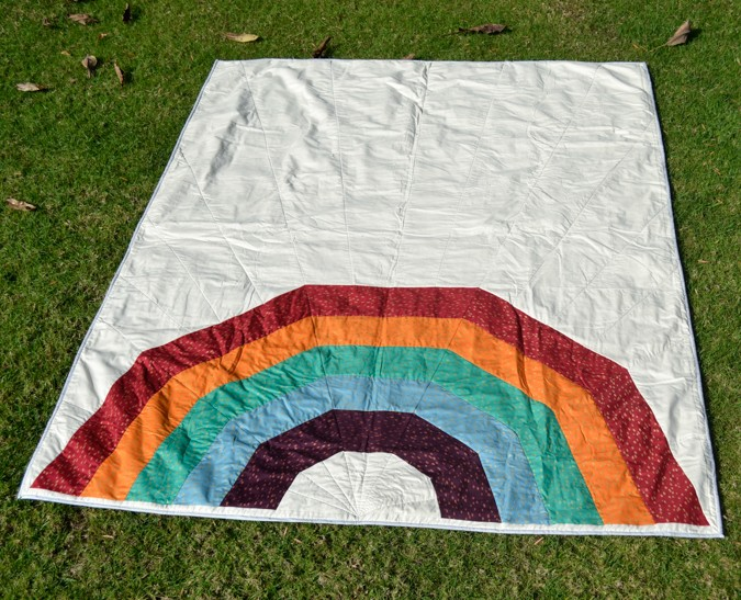 Giant Rainbow Quilt Pattern testers-7