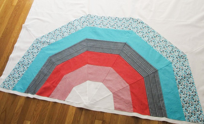 Giant Rainbow Quilt Pattern testers-8