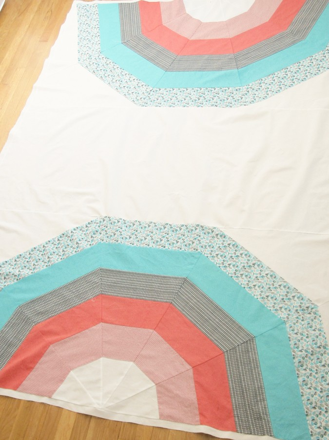 Giant Rainbow Quilt Pattern testers-9