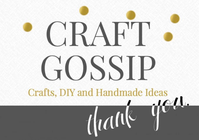 Craft Gossip Sewing Anne Weaver thank you