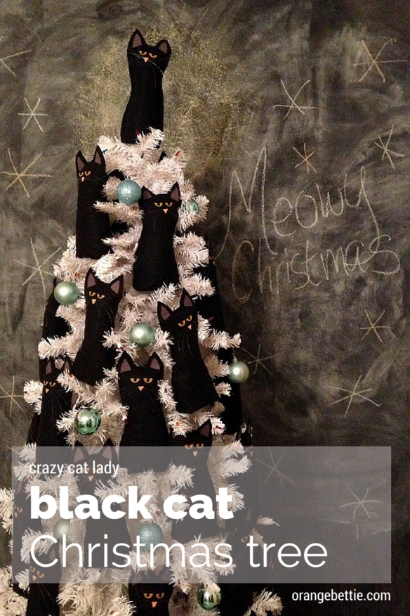 Crazy Cat Lady Christmas tree by Orange Bettie