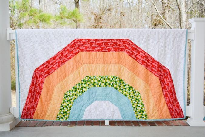 giant rainbow quilt
