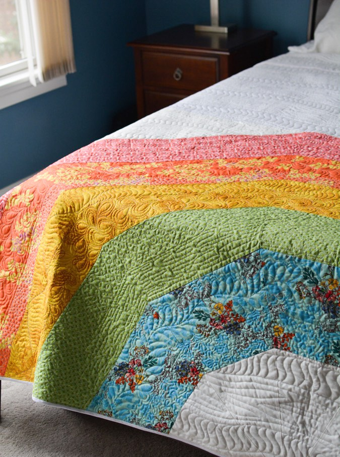Giant GIANT Rainbow Quilt by crafterhours-1