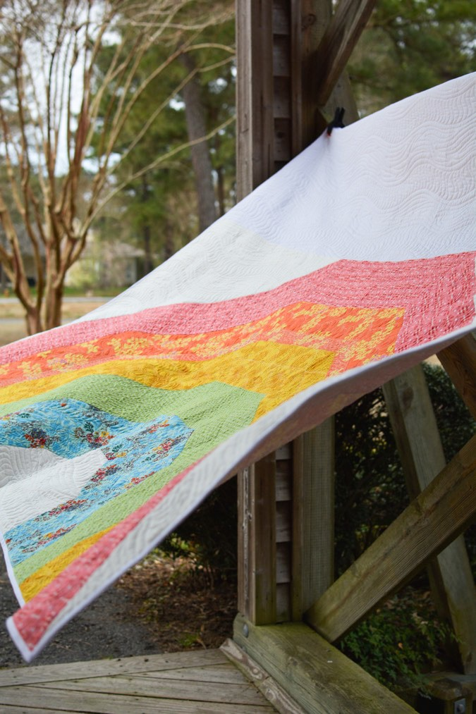 Giant GIANT Rainbow Quilt by crafterhours-11