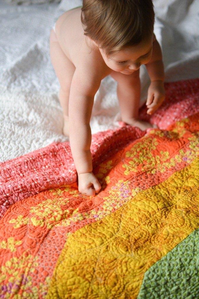 Giant GIANT Rainbow Quilt by crafterhours-26
